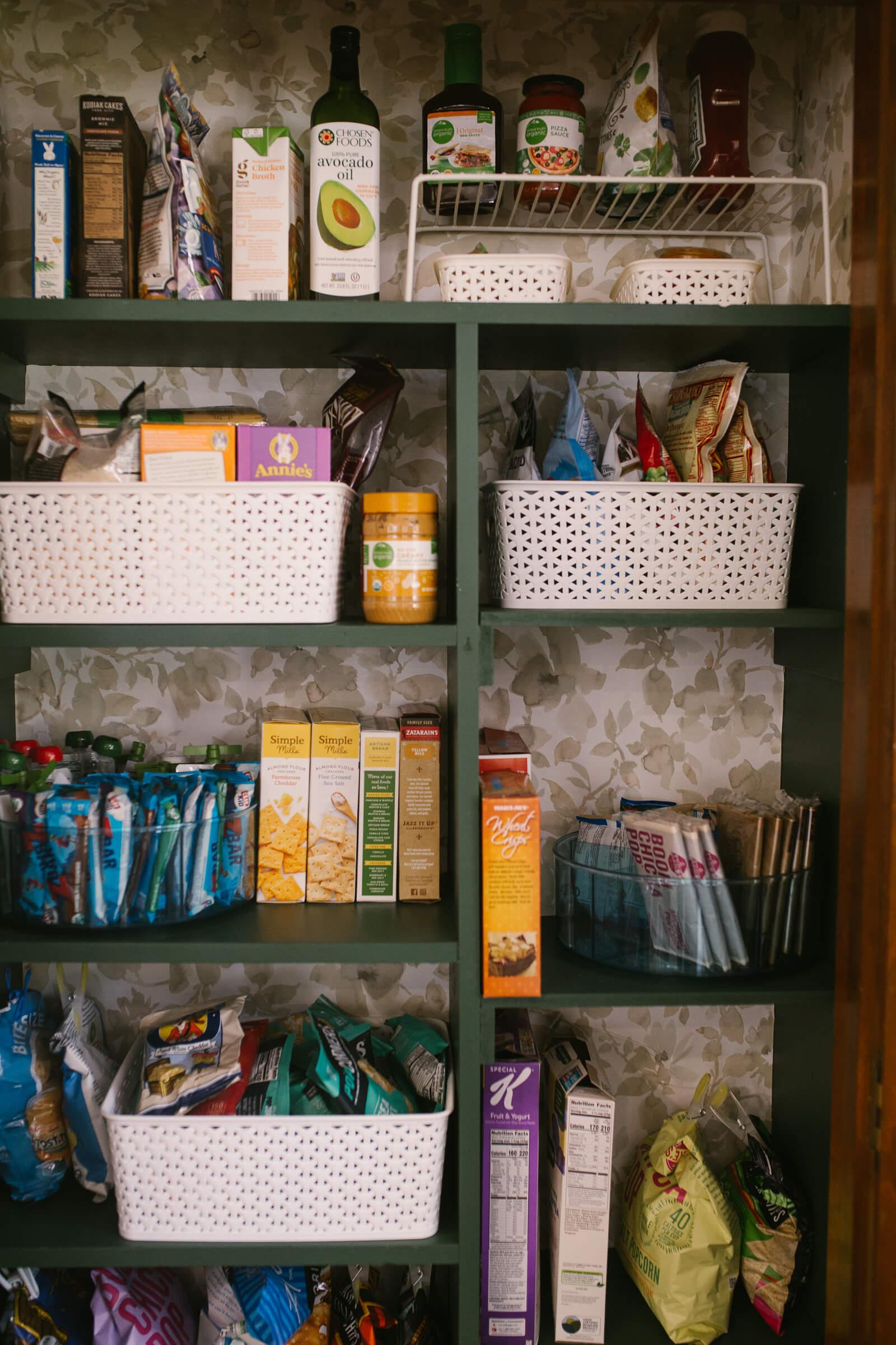 organized pantry with pantry storage