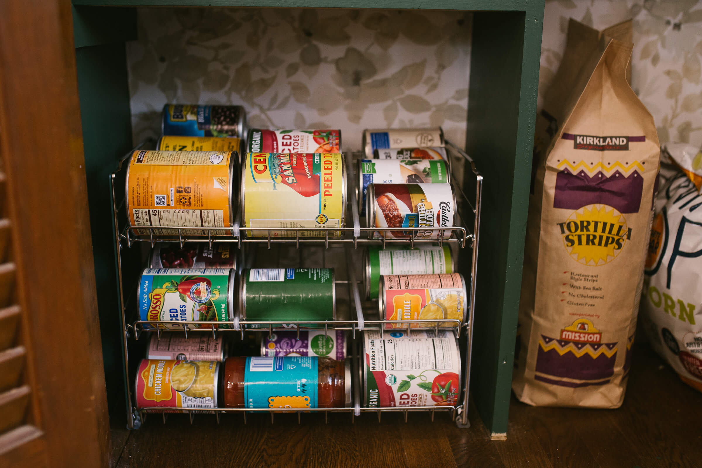 can organization in a pantry