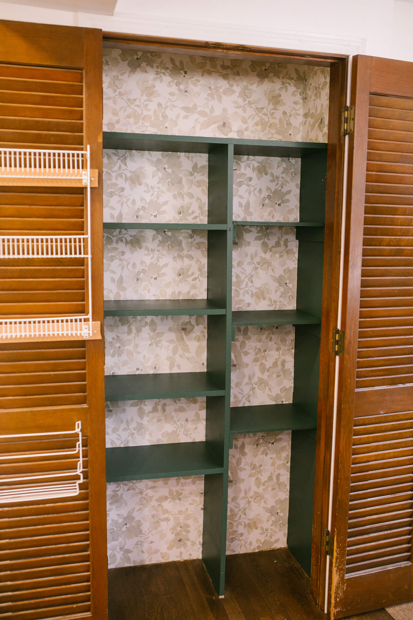 diy pantry organization with green paint, vine leaf by Behr