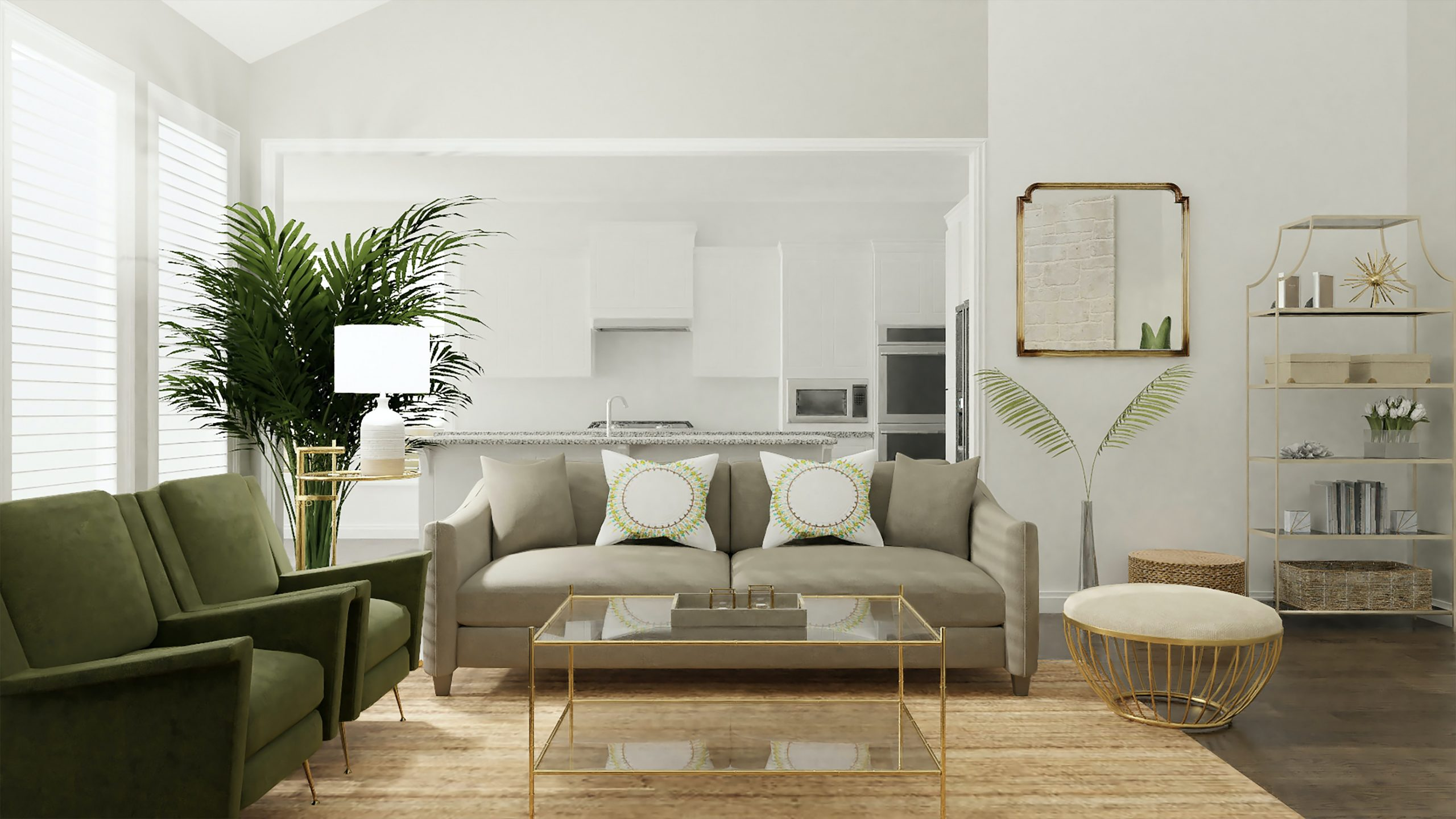 white living room with a first time home buyer