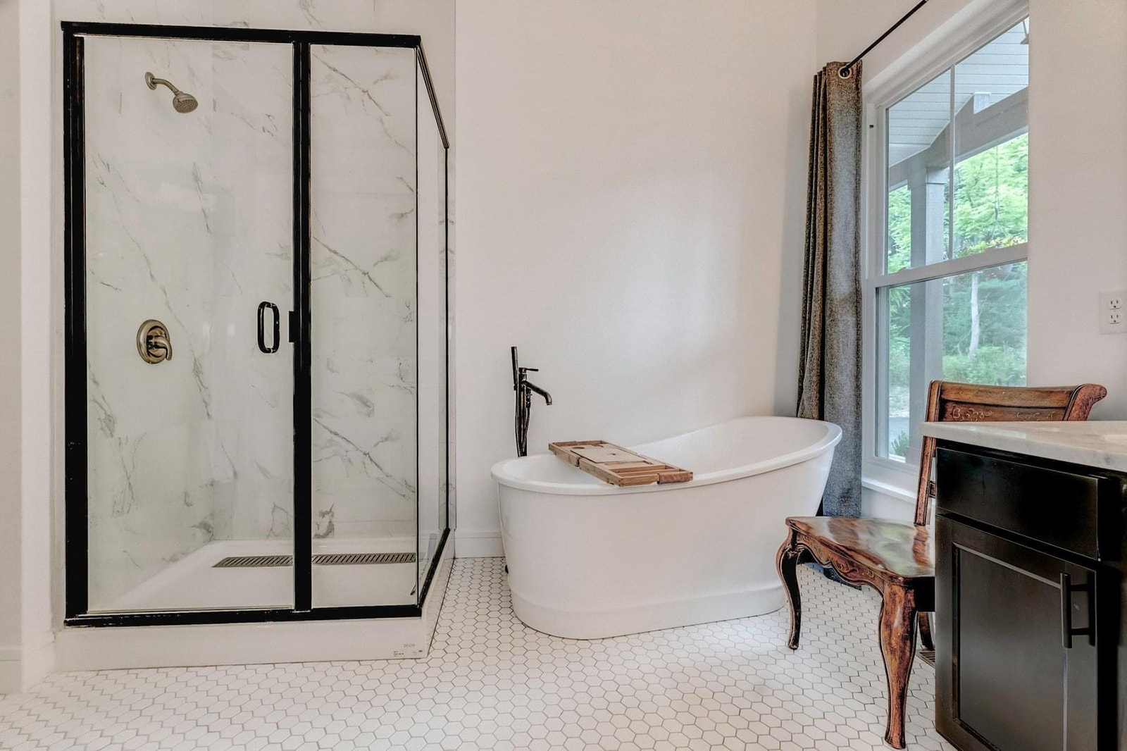 Stand alone bathtub and shower in master bath-10 must have items when building or renovating a home.